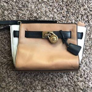 Michael Kors tri-colored cross body purse